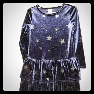 Velvet Gymboree  Dress with Silver Snowflakes